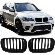 МАТОВАЯ решетка (ноздри) радиатора BMW X5 E70, X6 E71 (2007-2014) 51137157687 51137157688 HIGH QUALITY POLAND